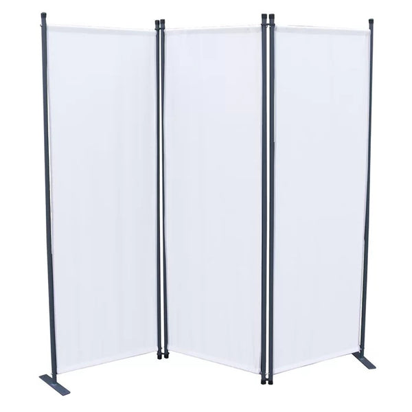 Karalis Room Divider Screen - 3 Panel - White