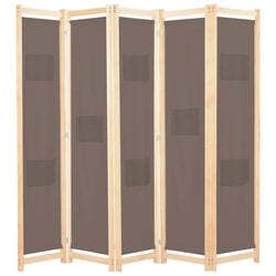 Alamo Room Divider Screen - 3 Panel - Brown