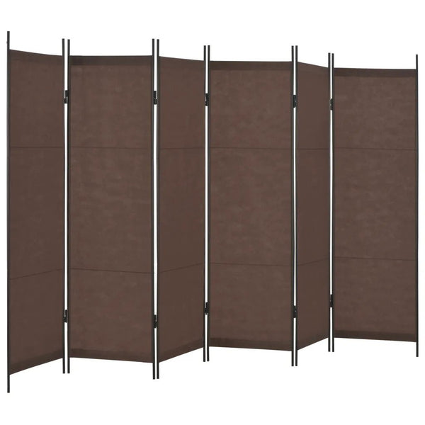 Louga 6 Panel Room Divider Screen -  Brown