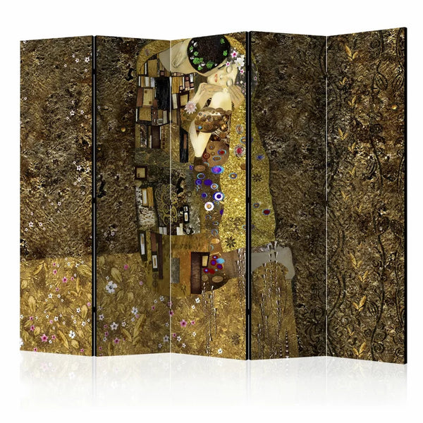 Gold Janelle Room Divider - 5 Panel