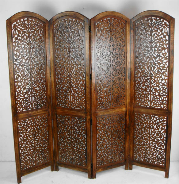 Kubu Hand Carved Room Divider - Light Brown