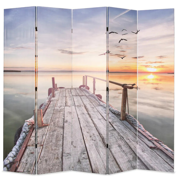 Sunset Room Divider Screen - 5 Panel