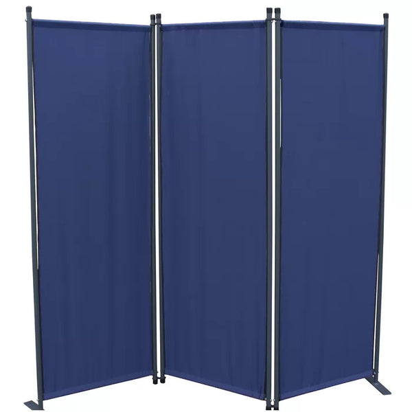 Karalis Room Divider Screen - 3 Panel - Blue