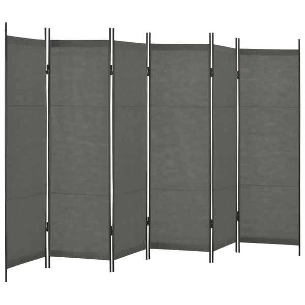 Louga 6 Panel Room Divider Screen - Anthracite