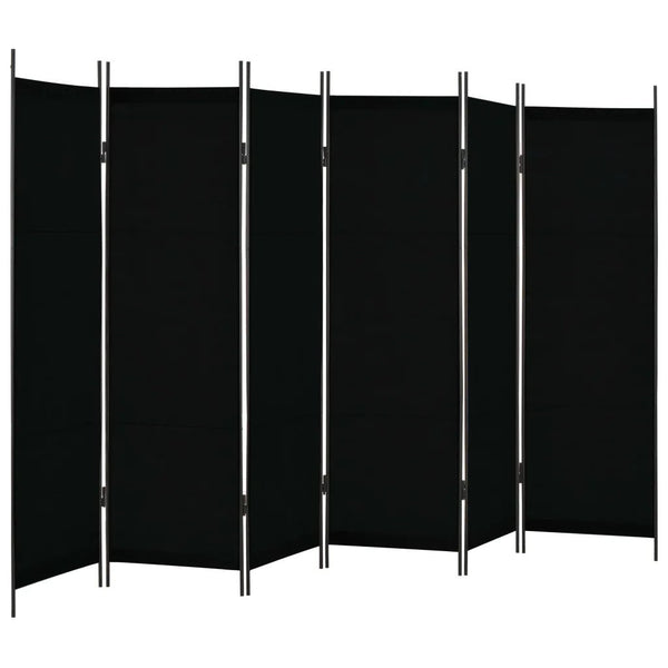 Louga 6 Panel Room Divider Screen - Black