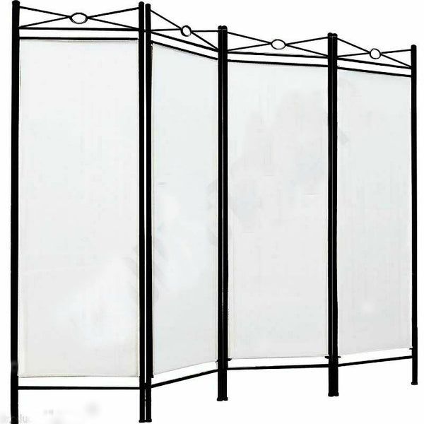 Spanish Room Divider - 4 Panel - Cream