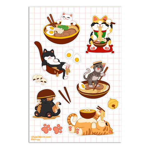STICKER SHEET | Toncatsu Stickers