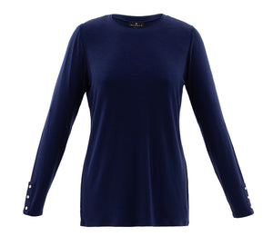 Marble navy basic long sleeve top 12,18,20