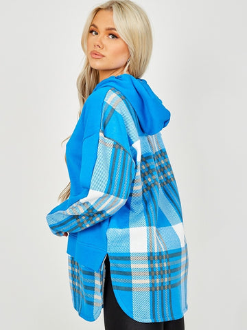 Checked Hoodie Royal