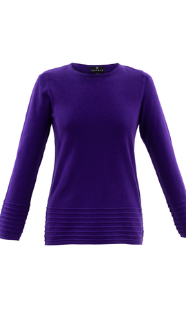Marble purple jumper with rib detail 5893-187