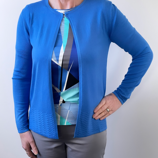 Barbara Lebek Blue Cardigan 75070012