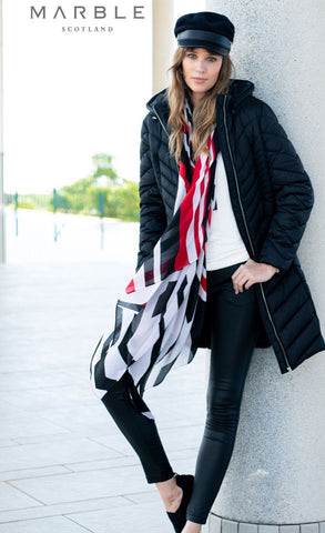 Marble red/black scarf