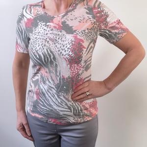 Barbara Lebek Multi Pink top 80360012