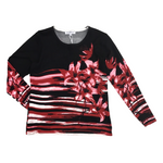 Mudflower 185-Red flower print jumper