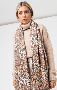 Stacy Leopard Scarf