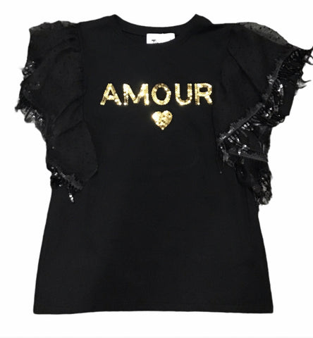 Mckenna Black amour frill top