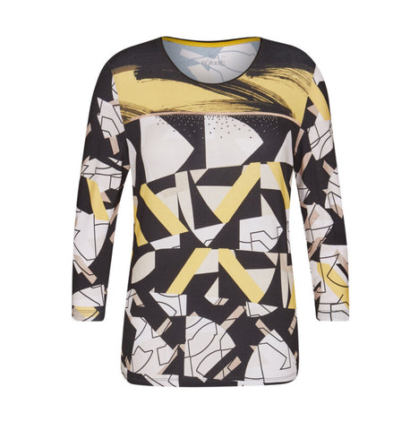 Rabe 121359 Mustard Print Top was £56.95