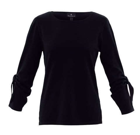 Marble 5824 Black knot sleeve fine knit