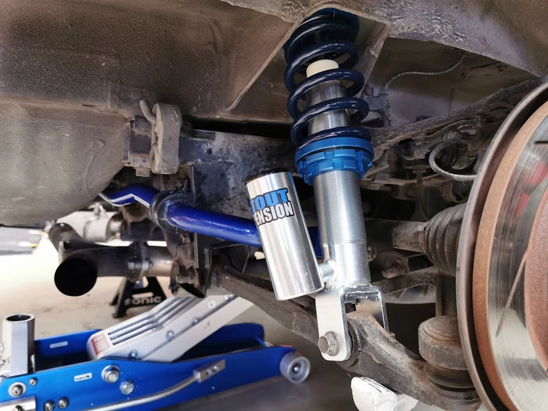 """That coilover is inferior becuase the lower mount can't be adjusted."""