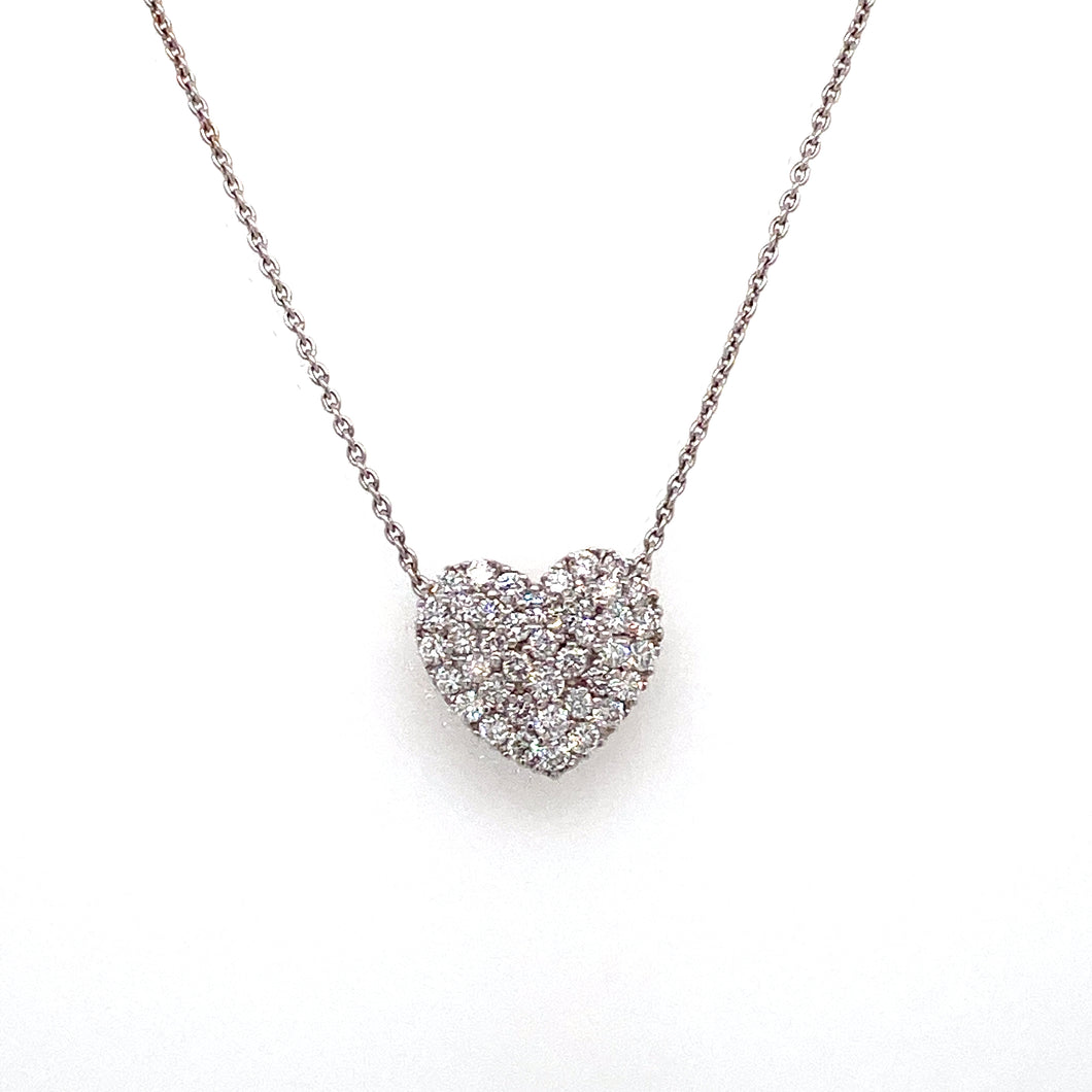 18kt Gold Pavé Diamond Heart Pendant