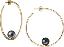 Load image into Gallery viewer, Oprah's Favorite Pearl Hoop Earrings