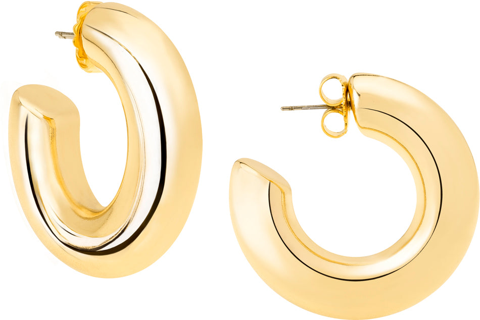 Oprah's Favorite Gold Medium Hoop Earring