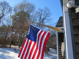 "small ""Star Spangled Banner Bat"" (TM) Flagstaff    with 24"" X 36"" flag"