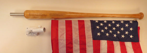"Large Star Spangled Banner Bat (tm) Flag Pole  with  36"" X 60"" USA Flag"