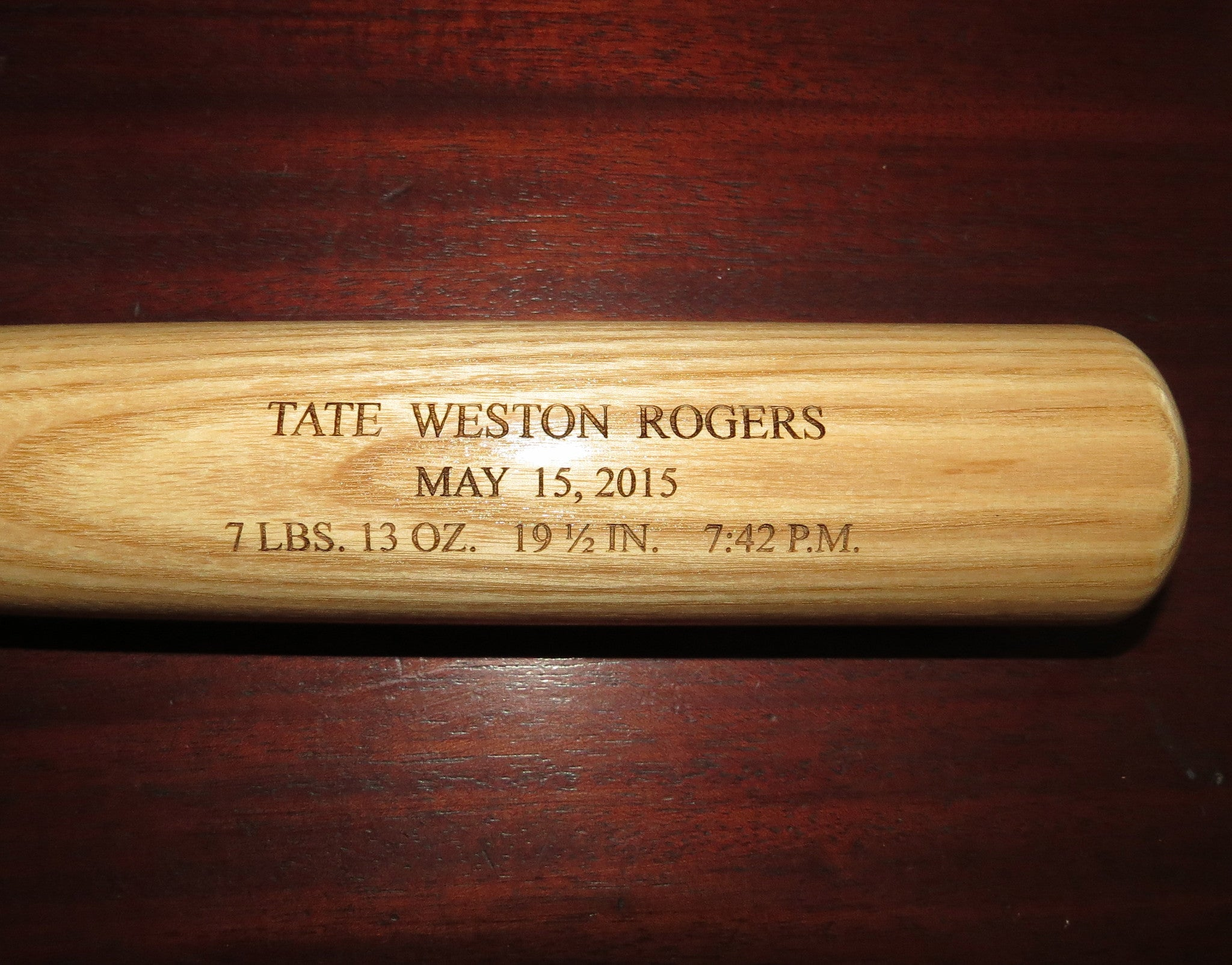 Birth Announcement Baseball Bat