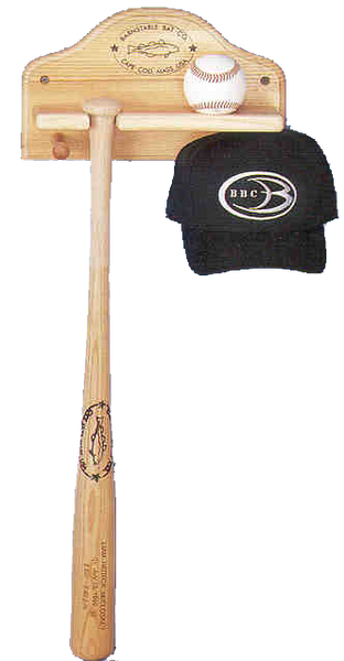 Bat, Ball, Glove & Hat Rack