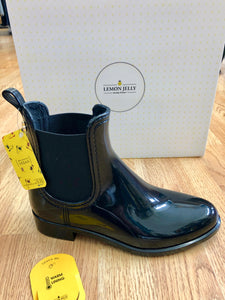 VEGAN Waterproof Rain Boots: BLACK