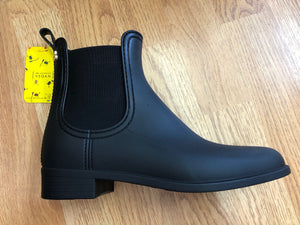 VEGAN Waterproof Rain Boots : MATTE BLACK
