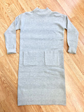 Load image into Gallery viewer, Light Grey Sweater Dress