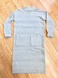 Light Grey Sweater Dress