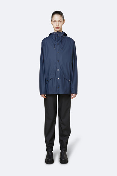 'Rains' Waterproof Jacket : NAVY