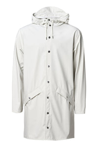 Long 'Rains' Waterproof Jacket: PEARL