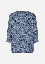 Load image into Gallery viewer, Paisley Banded Top - Blue