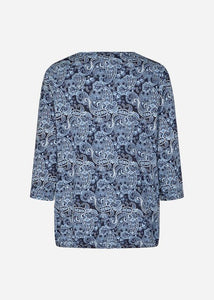 Paisley Banded Top - Blue