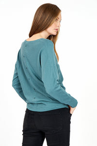 Button Back Sweater : 3 Colours
