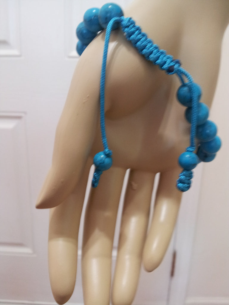 WOMEN TURQUOISE MARBLE STRETCH BRACELET