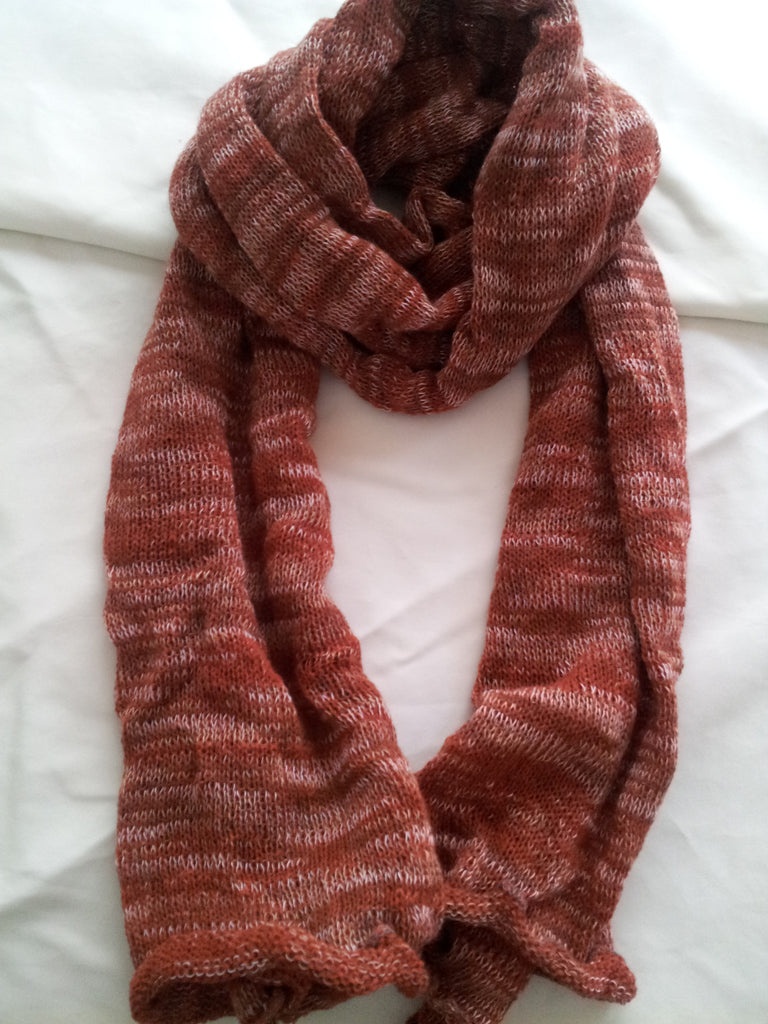 Crimson/White color, Unisex Scarf