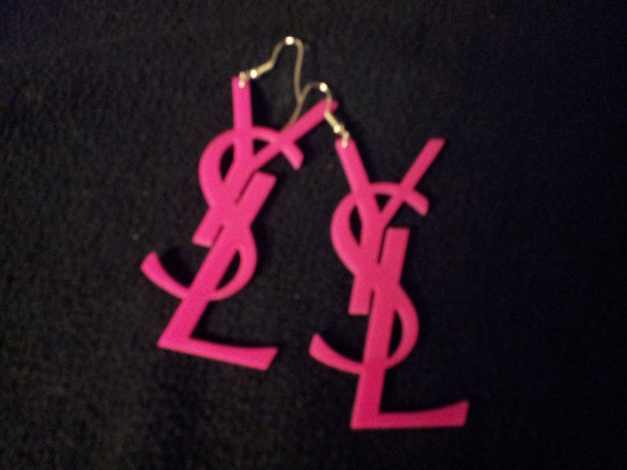 WOMEN'S PINK NEON DROP EARRINGS