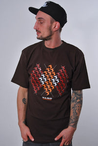 YARD, ARGYLE LION, T-SHIRT [BROWN]