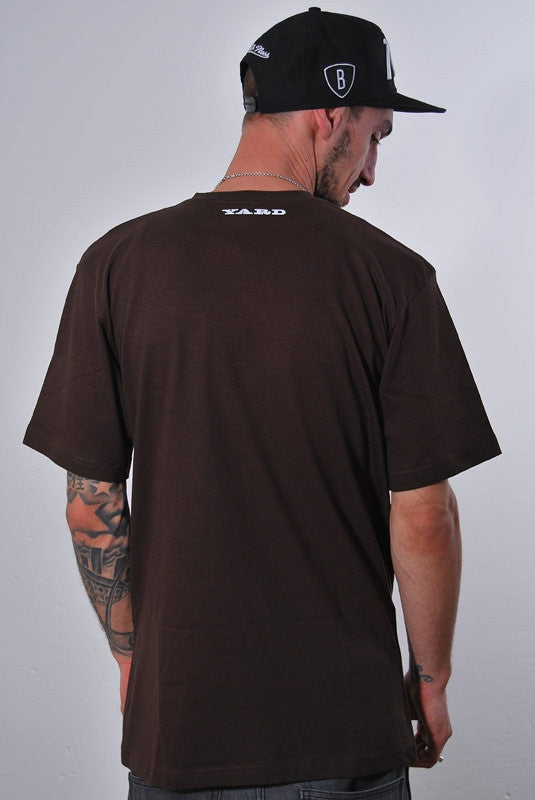 YARD, ARGYLE HIGH GRADE, T-SHIRT [BROWN]