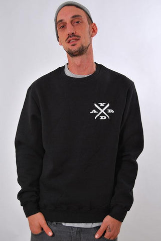 CUTTING EDGE, CREW NECK SWEAT SHIRT [BLACK]