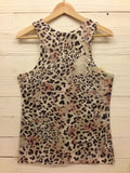 TAN 3D CHEETAH TANK TOP