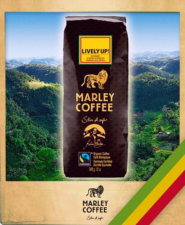 LIVELY UP! MARLEY COFFEE, ORGANIC, 8-OUNCE