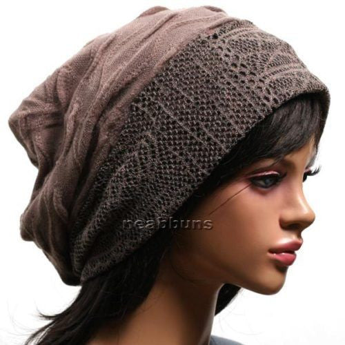 SLOUCHY BAGGY AUTUMN/WINTER BEANIE FOR LADIES [CACAO]