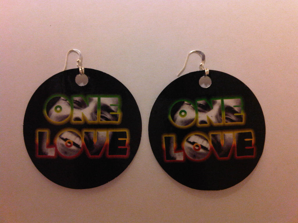 BOB MARLEY 'ONE LOVE' EARRINGS