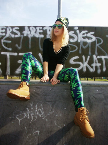 High grade Marijuana Leaf Print Leggings